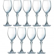 Luminarc 9x Witte wijnglazen transparant 190 ml