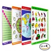 Educational Mealtime Plates for Kids, Set of 4 Unique Designs!