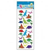 Geen 3x Stickervellen dinosaurussen van 25x dino stickers