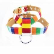 ELECTROPRIME Adjustable Dog Puppy Harness Pet Rainbow Vest Chest Strap Safe Walking XXL