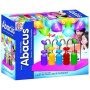 Ratnas Educational Abacus Junior for Kids to Learn to Count, add & Subtract with Colourful Beads