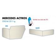 Mercedes Actros 2002-2011 (felhajtható anyósülés) ülés láb borítás PÁR BÉZS