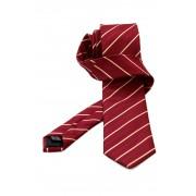 Cravata matase GC rosie cu dungi crem - NOU!
