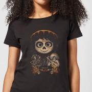 Disney Coco Miguel Gezicht Poster Dames T-shirt - Zwart - L - Zwart