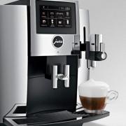 TRANSPORT GRATUIT Expresor automat de cafea cu rasnita ceramica Jura S8 chrome, presiune 15 bari, articol 15187 chrome gama Premium, include Smart Connect GARANTIE 2 ANI