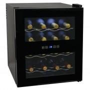 vidaXL Охладител за вино, 48 л, 16 бутилки, LCD дисплей