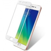 Full Glue (Gum) 5D Edge to Edge Tempered Glass Screen Protector for OPPO A57 (White WHITE 5D GLASS)