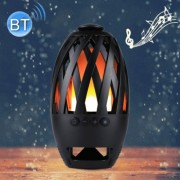 BTS-596 3W Bluetooth V4.2 Micro USB Charging Portable Smart LED Flame Atmosphere Bluetooth Speaker Support Micro SD (TF) Card Effective Bluetooth Distance: 10m