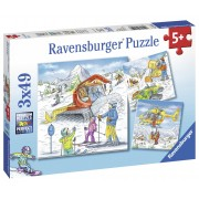 PUZZLE PARTIE DE SCHI, 3X49 PIESE - RAVENSBURGER (RVSPC08052)