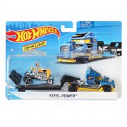 Set camion si masina sport, Hot Wheels Steel Power