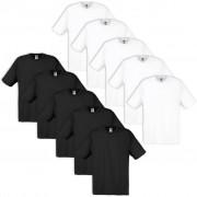 Fruit of the Loom 10 Original T-shirt 100% Cotton White / Black S
