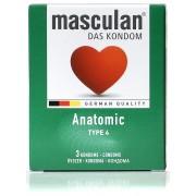 Masculan Anatomic anatomski kondomi pakovanje od 3 kondoma