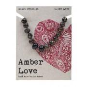 Baltic Amber Bracelet - Olive Love 20cm