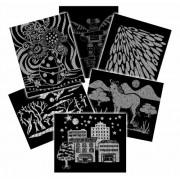 Melissa & Doug Scratch Art Pattern Paper - 60 Sheets, 6 Black and White Patterns