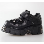 bottesen cuir - Bolt Shoes (131-S1) Black - NEW ROCK - M.131-S1