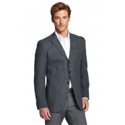ランズエンド LANDS' END メンズ・フリーリー・イタリアンウールリネン・テーラード・ジャケット/ネクタイ(チャコール/グレーブークレ)