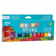 Tempera stift készlet, APLI \Kids\, 12 különböző szín [12 db]