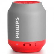 Philips Bluetooth безжична портативна колонка, акумулаторна батерия 2 W, цвят: сив/розов, BT25G