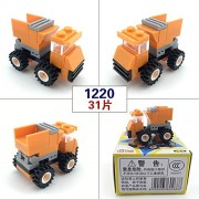 Generic Mini Kids Toy Transportation Block Car Building Compatible with Police Gun Weapons Pack Army Soldiers Figure Building Blocks 1220