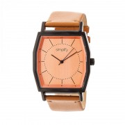 Simplify The 5400 Leather-Band Watch - Orange/Camel SIM5406