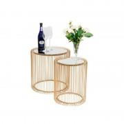 mesa auxiliar Wire Brass 2/set