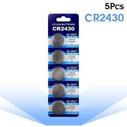 5pcs/pack CR2430 Button Batteries DL2430 BR2430 KL2430 Cell Coin Lithium Battery 3V CR 2430 For Watch Electronic