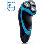 Afeitadora de rotación Philips serie 3000 PT722/15 negro, afeitadora azul para hombre con afeitado inalámbrico 45 + minutos(azul black)