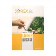 Etichete Autoadezive SOREX Albe in Coala A4, 24/A4, Dimensiune 70x37 mm, Adeziv Permanent