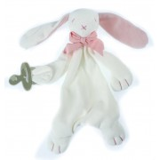 Maud'n'Lil Comforter Maud n Lil konijn roze-wit
