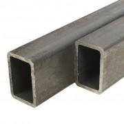 vidaXL Кухи пръти конструкционна стомана 2 бр правоъгълни 2м 60x40x3мм