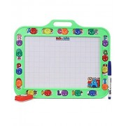 toyztrend educational hide n seek slate writing board 2 in 1 GREEN colour small for kids to write and learn their preschool lessons with chalk and marker
