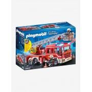 9463 Carro dos bombeiros com escadas, da Playmobil vermelho medio liso com motivo