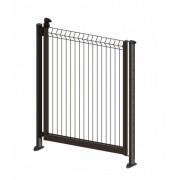 Portillon de clôture piscine - Couleur - Vert 6005, Pose - sur platine
