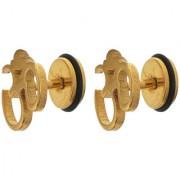 Sanaa Creations Om Gold Single Stud Earring for Men Daily/Party Wear Stylish Fashion Jewellery for Men/Boys/