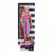 Barbie fashionista barátnők - szőke csíkos ruhában