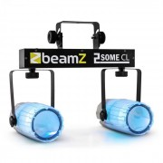 Beamz 2-Some Clear Juego de luces LED RGBAW Con micrófono (Sky-153.748)