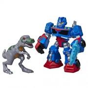 Transformers Rescue Bots Energize Playskool Heroes Action Figure Optimus & Trex