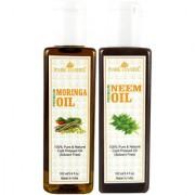 Park Daniel Premium Moringa oil and Neem oil combo of 2 bottles of 100 ml (200ml)