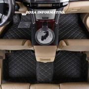 Covorase auto LUX PIELE 5D Mercedes S-Class W221 2005-2013 scurt ( 5D-06 cusatura bej ) VistaCar