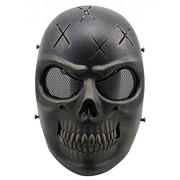 Outgeek Skull Skeleton Tactical Airsoft Masks Full Face Cosplay Mask for Bb Gun 6 Antique Bronze