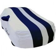 Autofurnish Stylish Blue Stripe Car Body Cover For Renault Duster - Arc Blue