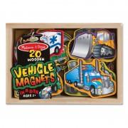 Vehicule cu magneti Melissa and Doug, 20 piese