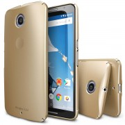 Husa Protectie Spate Ringke Slim Royal Gold plus folie protectie pentru Google Nexus 6