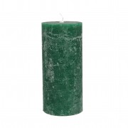Dille&Kamille Bougie bloc, vert jungle, 7 x 15 cm