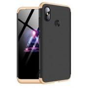 Protectie Spate GKK 360 6972170532121 pentru Xiaomi Redmi Note 6 Pro (Negru/Auriu)