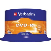 DVD-R4,7 VER50 - Verbatim DVD-R 4,7GB, 50-er CakeBox