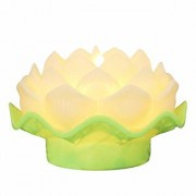 LED Lotus Shaped Candles Include Realistic Dancing LED Flame Battery Operated Large Size Flower (1 Pcs White Colour)