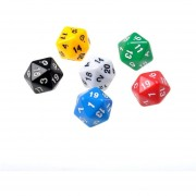 ER 6 Set D20 Gaming Dados Veinte Sided Die RPG D & D Seis Colores Opacos Multicolor