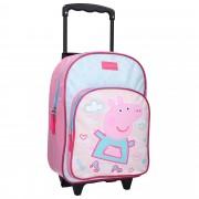 Merkloos Peppa Pig koffer op wieltjes roze 38 cm voor kinderen