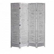 Shilpi Handicrafts Wooden Partition in Antique White Color Stylish Simplicity Look Separator Panel (4)